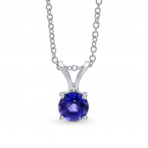 Round Blue Sapphire Solitaire Pendant, SKU 299240 (0.54Ct)