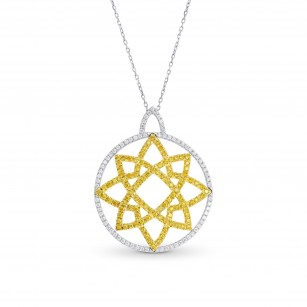 Vivid Yellow and Collection Color Pave Pendant, SKU 34971 (0.93Ct TW)