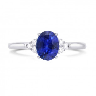 Oval Sapphire & Diamond Ring, SKU 3594R (0.12Ct TW)