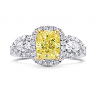Halo & Pear Diamond Side-stone Ring Setting, SKU 40402S