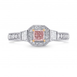 Halo Ring Setting with Milgrain & Trapezoid Diamonds, SKU 40404S
