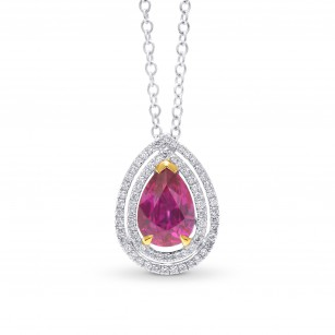 Natural Unheated Red Ruby Halo Pendant, SKU 56481 (2.61Ct TW)