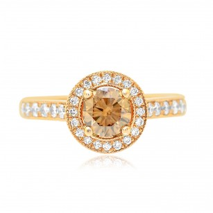 Fancy Brown Diamond Halo Engagement Ring, SKU 74085 (1.13Ct TW)