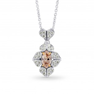 Fancy Brown Pink Diamond Marquise Diamond Pendant, SKU 82212 (0.88Ct TW)