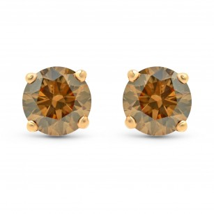 Fancy Brown Stud Earrings, SKU 85034 (1.05Ct TW)
