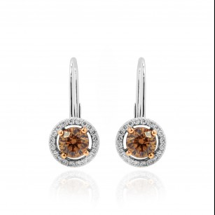 Champagne Diamond Drop Earrings, SKU 91271 (1.48Ct TW)