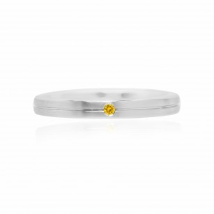 Gents Fancy Vivid Yellow Diamond Solitaire Band Ring, SKU 94194