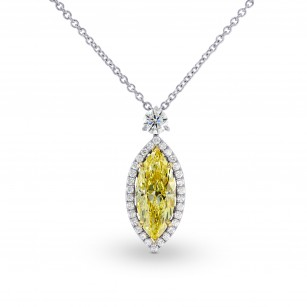 Fancy Yellow Marquise Diamond Pendant, SKU 98575 (2.35Ct TW)