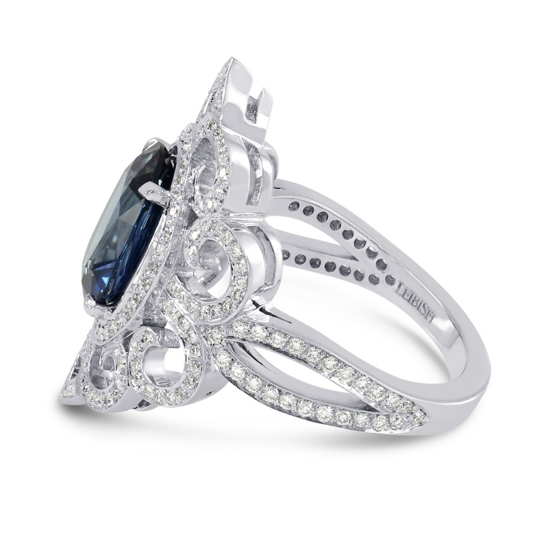 3.42Ct Oval Sapphire and Diamond Dress Ring, SKU 160151 (3.93Ct TW)