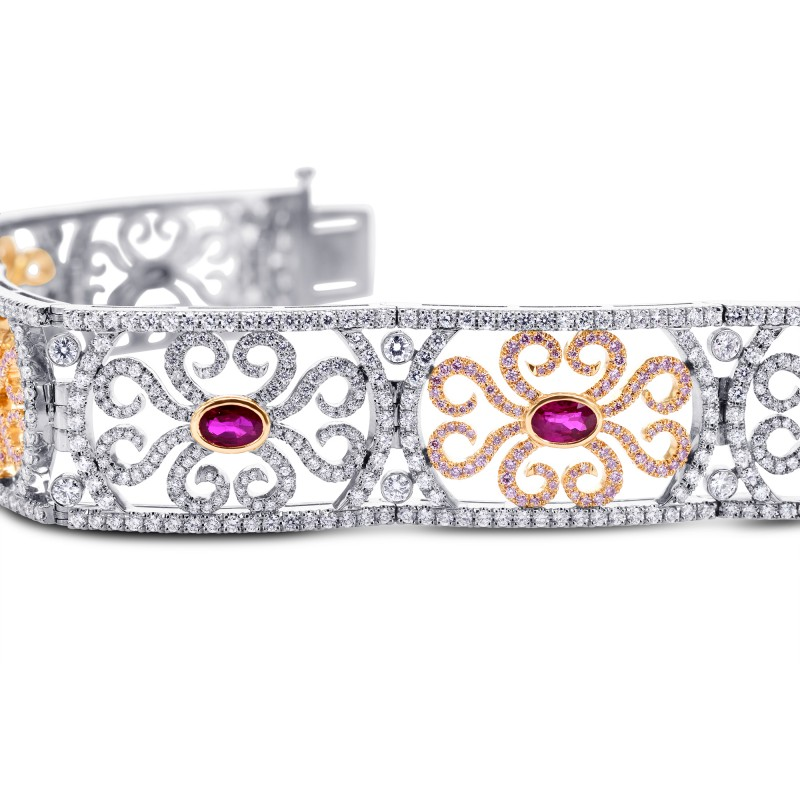 Extraordinary Ruby & Pink Diamond Bracelet, SKU 181465 (10.61Ct TW)