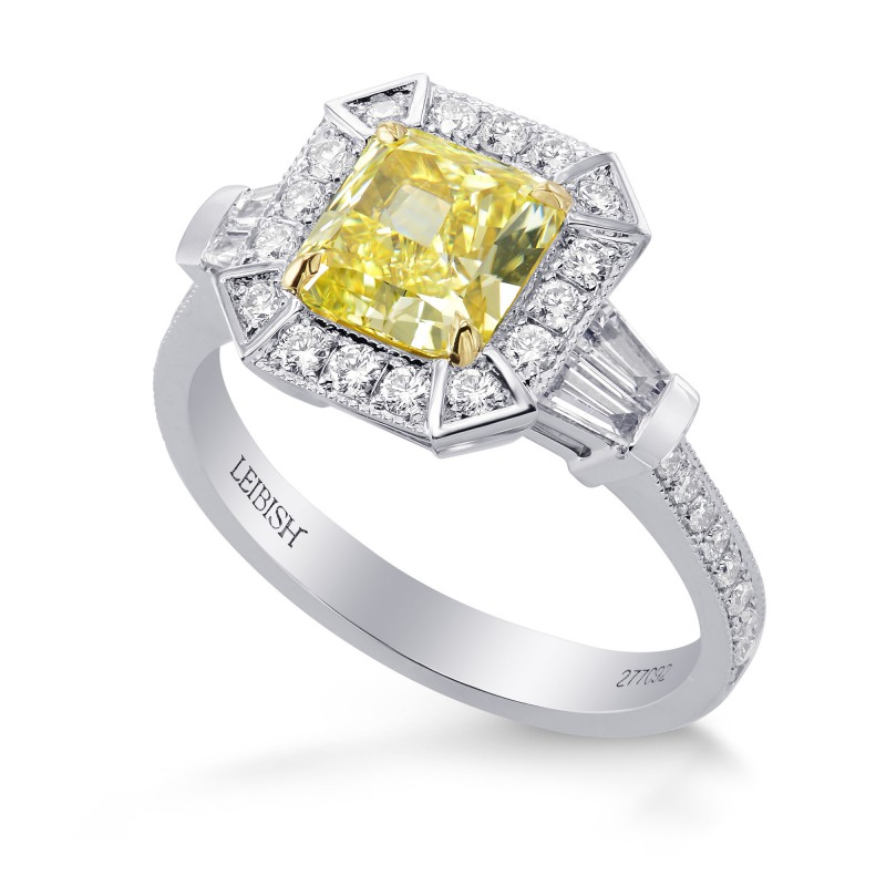 Fancy Intense Yellow, IF, Radiant Diamond Engagement Ring, SKU 277092 (2.05Ct TW)