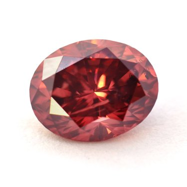 Straight Fancy Red Oval-shaped Argyle Tender Red Diamond
