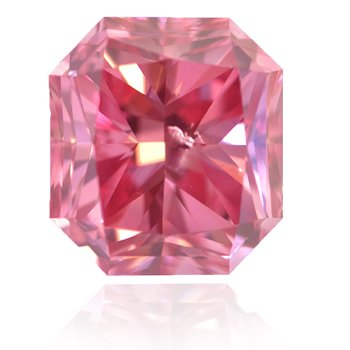 The Leibish Prosperity Pink Diamond, 1.68-carat, Fancy Vivid Purplish Pink, Radiant-shaped diamond