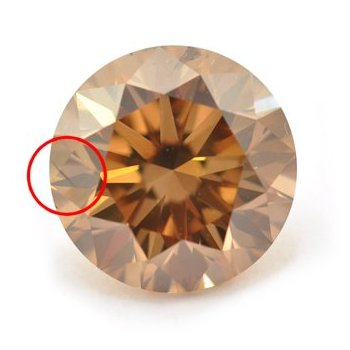 2.28ct Fancy Orangy Brown Round SI2 (Internal Inclusion)