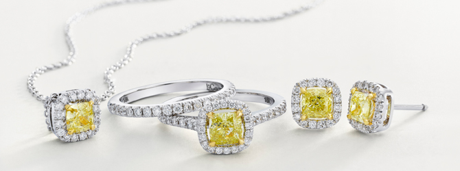 the Leibish & Co. Fancy Vivid Yellow diamond Canary collection