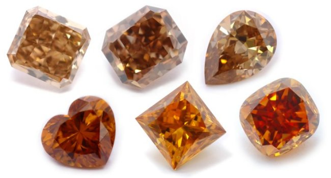 Different Shades of Cognac Diamonds