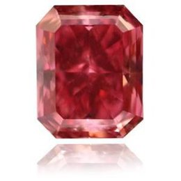 An extremely rare Fancy Red Radiant-shaped Diamond
