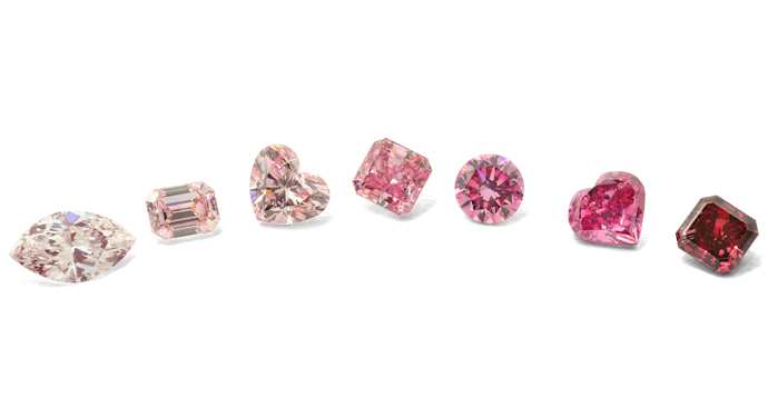 A Collection of Leibish & Co. Fancy Pink Diamonds