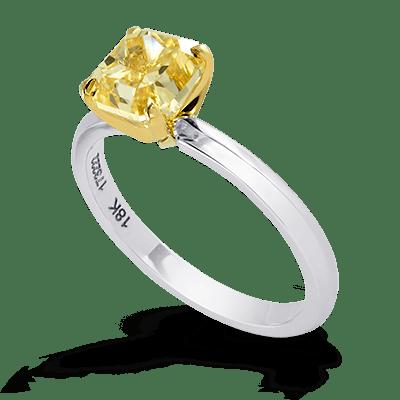 Narrow Shank Solitaire Diamond Ring