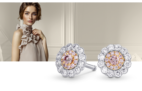 Colored Diamond Earrings
