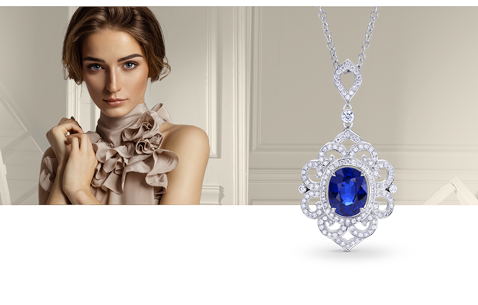 Gemstone pendants necklaces adorn yourself with a glamorous gemstone necklace perfect for your fabulous style sapphire pendants necklaces ruby pendants necklaces mozeypictures Gallery