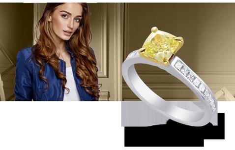 Side Diamond Engagement Rings
