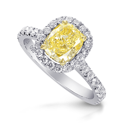 Contemporary Diamond Halo Ring