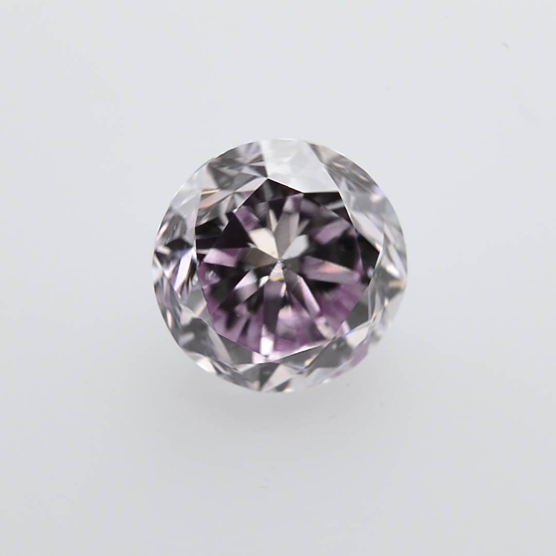 0 42 Carat Fancy Pink Purple Diamond Round Shape I1