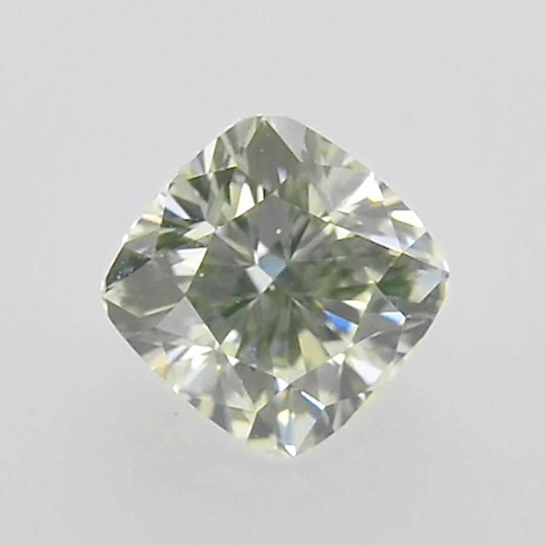 1 03 Carat Very Light Green Diamond Cushion Shape Vs2