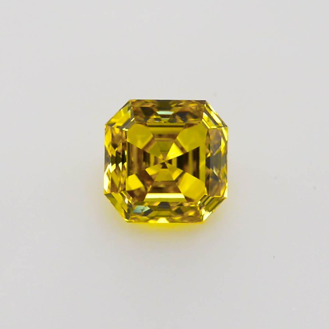Carat Fancy Deep Yellow Diamond Asscher Shape Si2