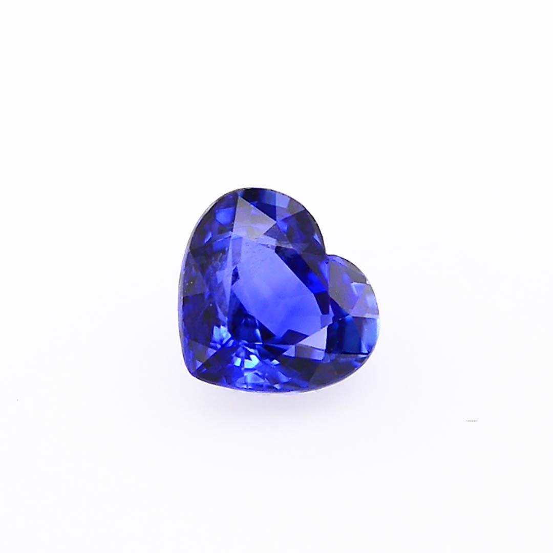 0 85 Carat Blue Ceylon Sapphire Heart Shape Sku 282354