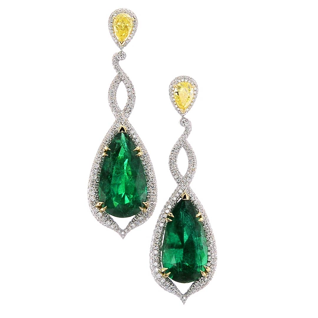 s canary elayna diamond shape dangle earrings friedman jewelers pear product
