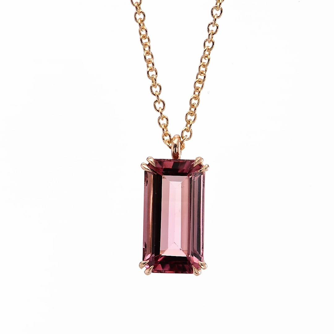 Pink Tourmaline Rose Gold Drop Pendant Sku 267193 3 04ct