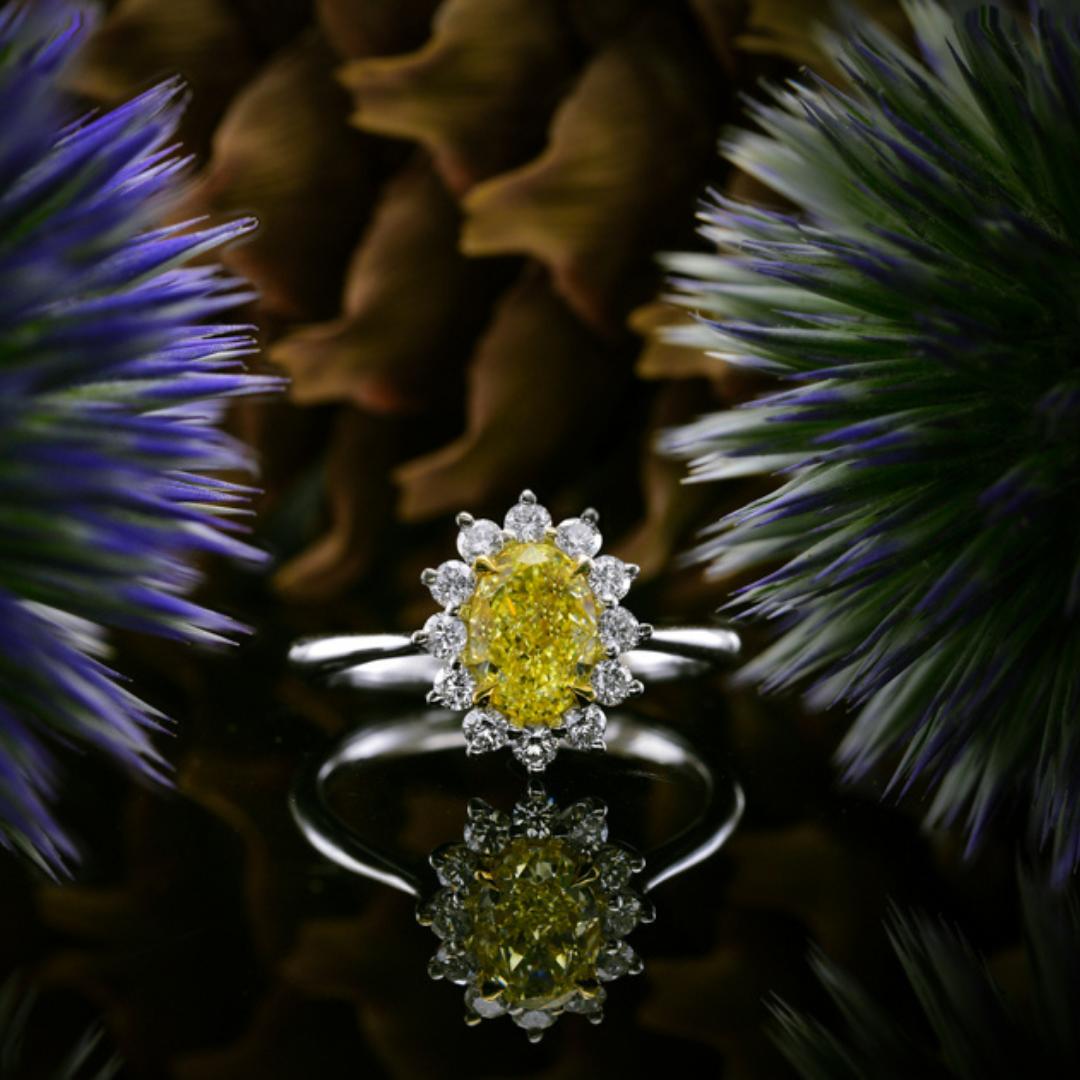 Lady Gaga Shines Bright in Yellow Diamonds | Leibish