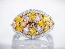 Multicolored Diamond Rings | Leibish