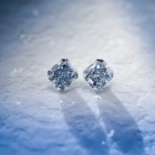 0.69 carat, Fancy Intense Blue Diamonds, Radi