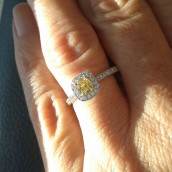 The winner of our yellow diamond ring giveawa