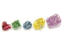 Assortment of natural fancy color diamonds