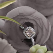 A Leibish Pink Diamond Ring