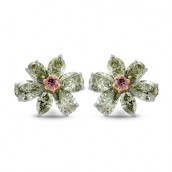 Fancy Vivid Pink & Yellowish Green Diamond Ea