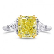 Fancy Intense Yellow Cushion & Triangle Diamo