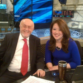 Leibish and Melissa on the set of CNBC