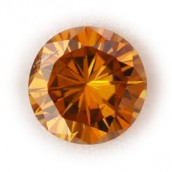 Round Orange Diamond