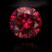 Red Round Diamond from Leibish