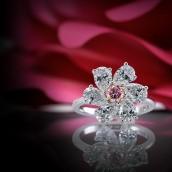 Fancy Intense Purplish Pink Diamond Ring (2.8