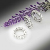 Leibish colorless diamond wedding bands
