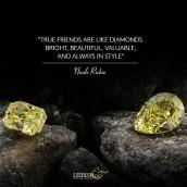 True friends are like diamonds - bright, beau