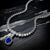 Extraordinary Round Diamond Necklace & Detach