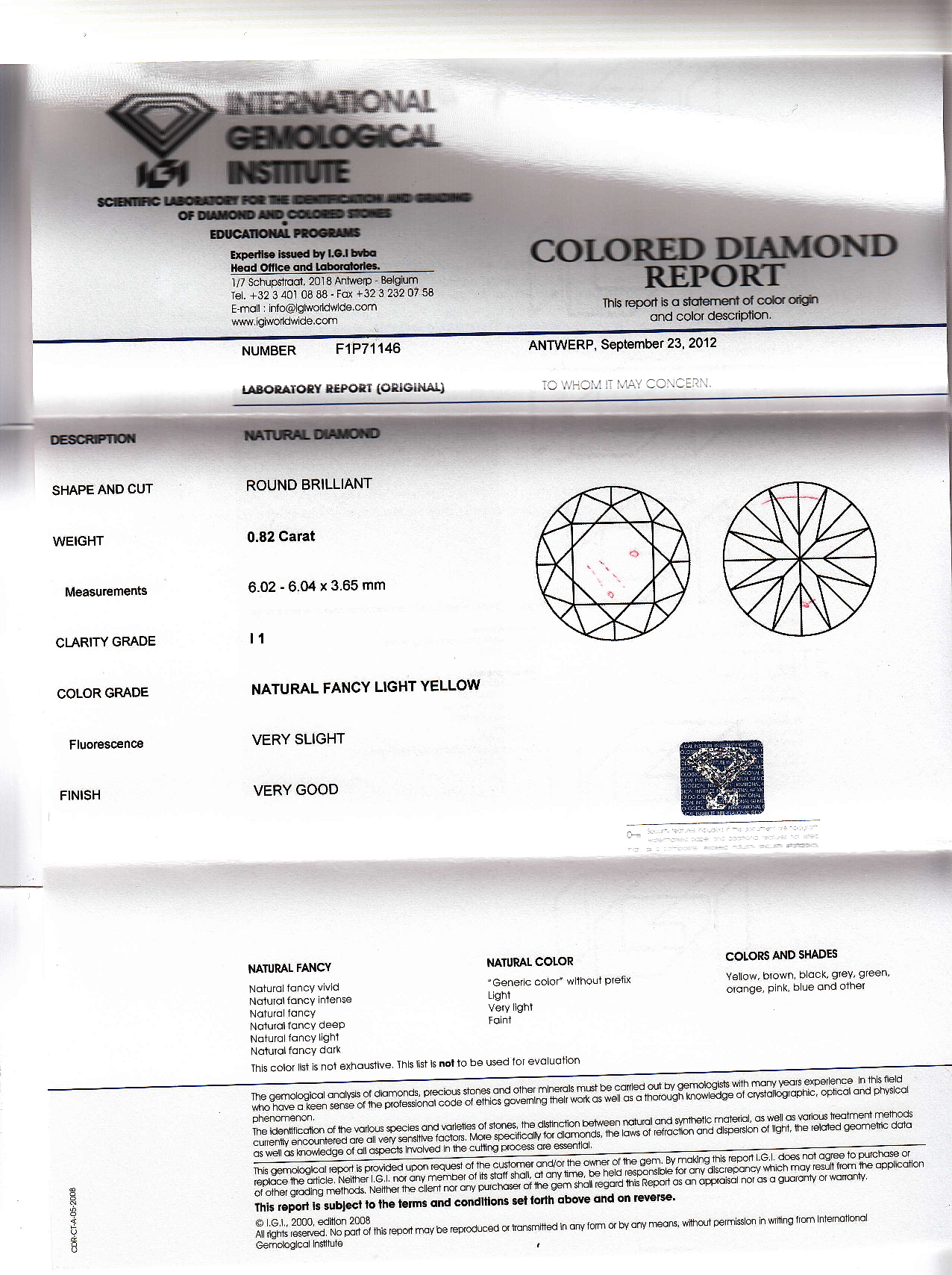 an the shades as labeled buyer ring most igi are diamond colors report guide htm engage of intense grading engagement color and s such graded fancy on these