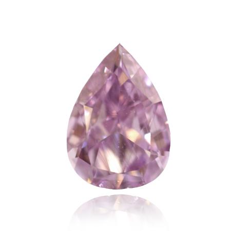 0.15 Carat, Fancy Intense Purple Diamond, Pear, VVS2